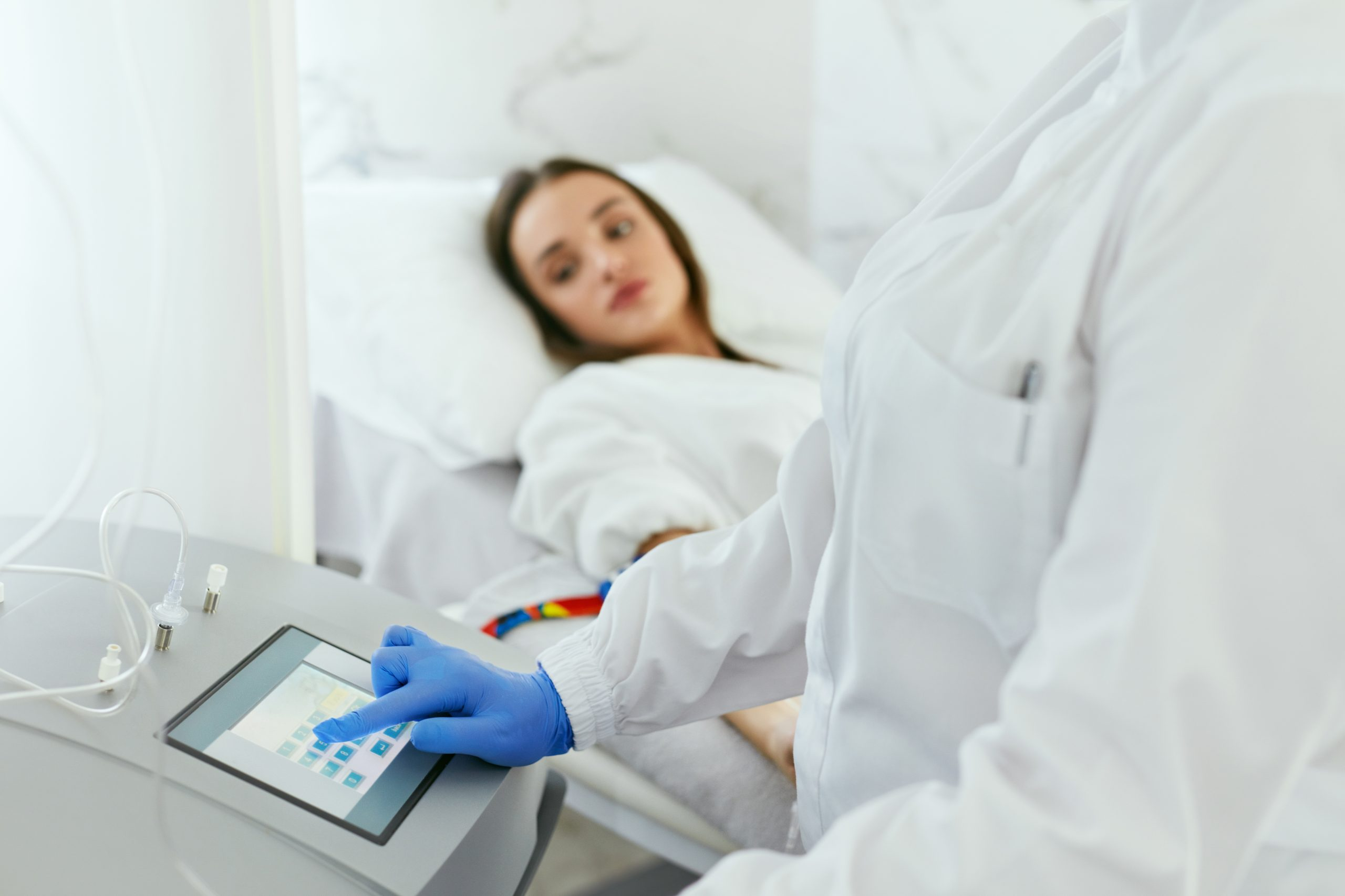 Blood,Ozone,Therapy.,Woman,At,Blood,Transfusion,Treatment